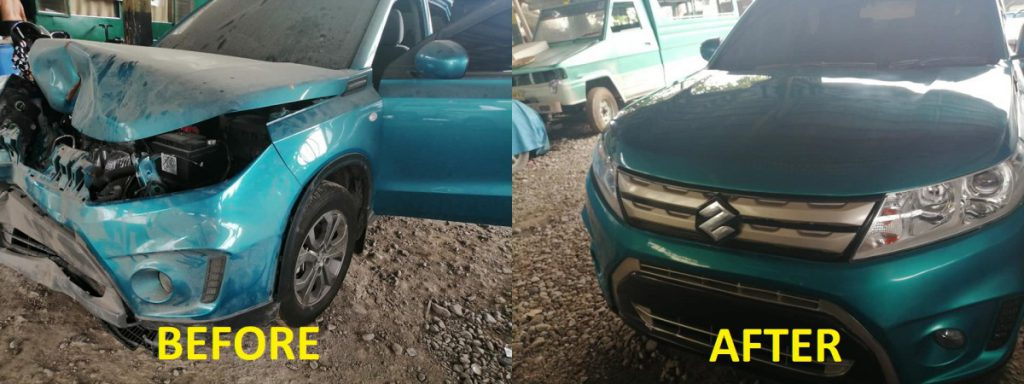 body chassis repair raj auto fix shop before after